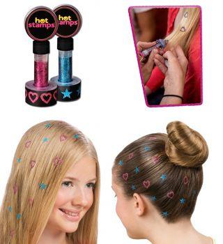 2li Işıltılı Saç Süsleme Damgaları Hot Stamps