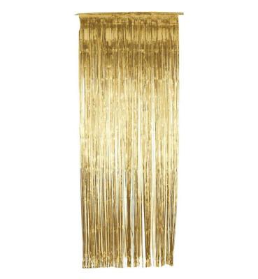 Diğer - 2li Metalik Folyo Kapı ve Duvar Süsleme Perdesi Gold