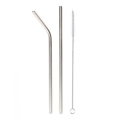 2li Paslanmaz Metal Pipet ve Temizleme Fırçası - Thumbnail