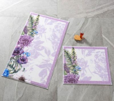 Confetti - 2li Pick Flower Banyo Halısı Takımı Mor
