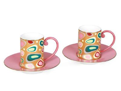 Diğer - 2li Pink Dream Bone China Kahve Fincanı Seti