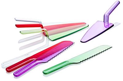 Diğer - 2li Servis Spatulası ve Pasta Bıçağı Seti Asorti 27cm