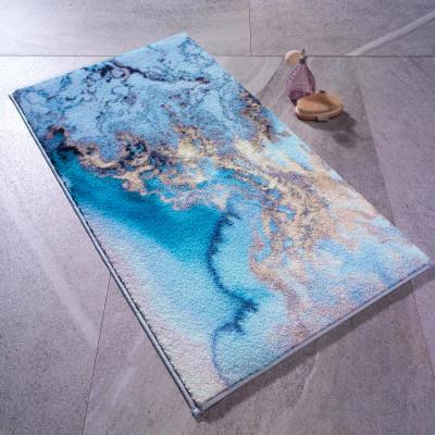 2li Su Köpüğü Desenli Banyo Halısı Takımı - Thumbnail
