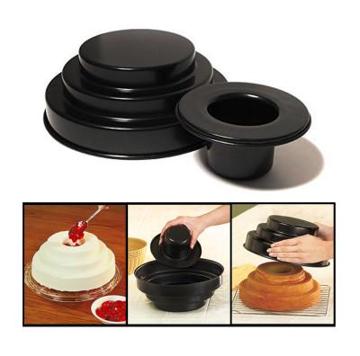 Diğer - 3 Katlı Yuvarlak Pasta Keki Pişirme Kalıbı