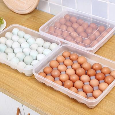 Diğer - 30lu Dolap Düzenleyici Kapaklı Yumurta Saklama Organizeri