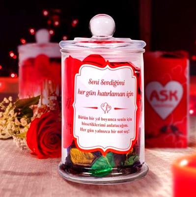 365 Güne Özel Aşk Notları İle Dolu Aşk Kavanozu - Thumbnail