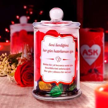 365 Güne Özel Aşk Notları İle Dolu Aşk Kavanozu