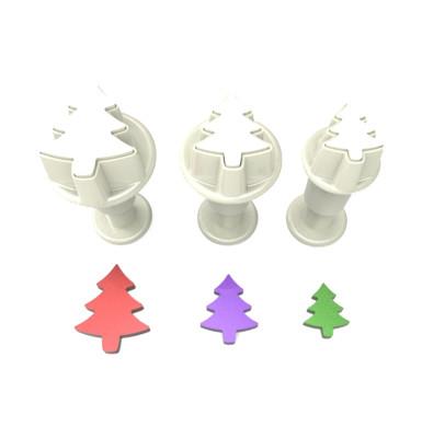 Diğer - 3lü Çam Ağacı Şeker Hamuru Şekillendirici Enjektörlü Kopat