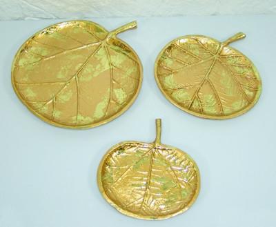 Diğer - 3lü Elma Biçiminde Dekoratif Süsler Gold
