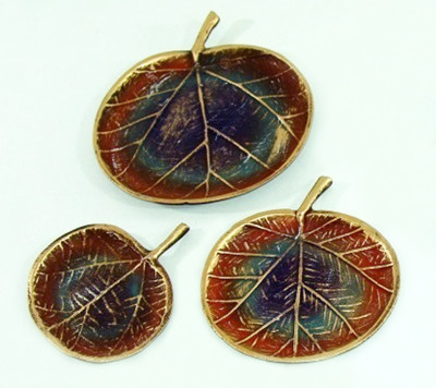 Diğer - 3lü Elma Biçiminde Dekoratif Süsler Kahverengi