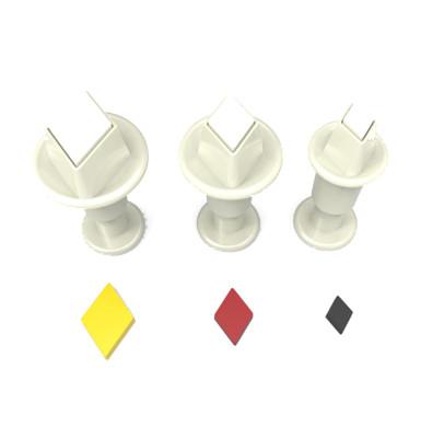 Diğer - 3lü Elmas Şeker Hamuru Şekillendirici Enjektörlü Kopat