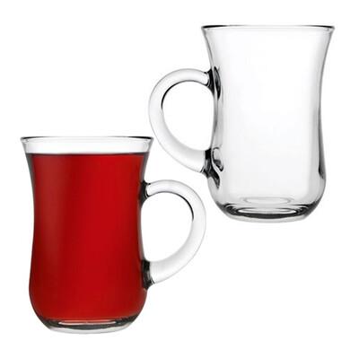 Paşabahçe - 3lü Paşabahçe Keyif XL Kulplu Çay Bardağı