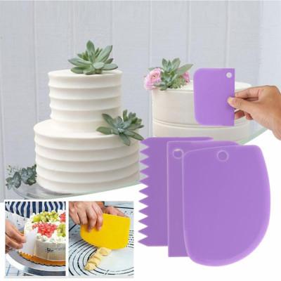 Diğer - 3lü Pasta ve Şeker Hamuru Şekillendirici Spatula Seti