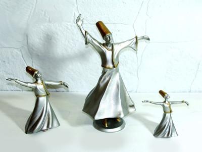 Diğer - 3lü Semazen Biblo Seti Gümüş