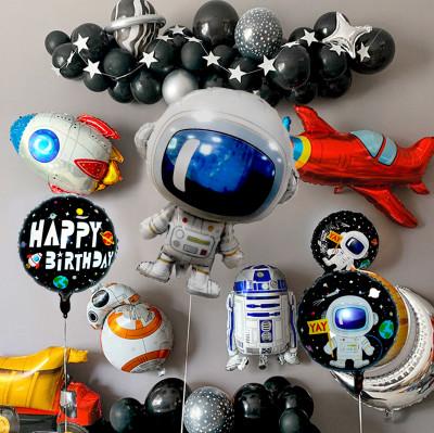 Diğer - 3lü Uzay Temalı Astronot Folyo Balon Seti