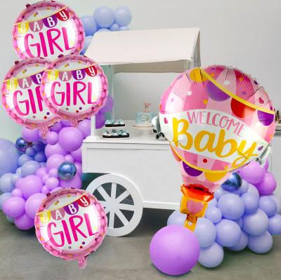 Diğer - 3lü Welcome Baby Gırls Temalı Folyo Balon Seti Pembe