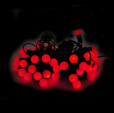Diğer - 40lı Sıralı Işık Topları Yılbaşı Ağacı Işığı 5m Kırmızı