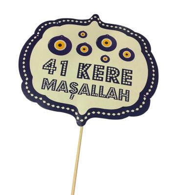 Diğer - 41 Kere Maşallah Yazılı Çubuklu Konuşma Balonu