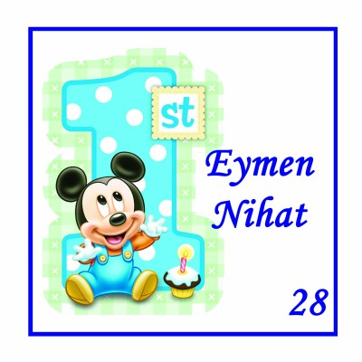 48li Bebek Şekeri Etiketi Kare 3,5cm - Thumbnail