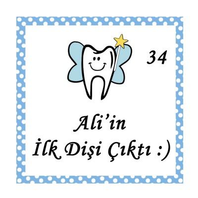48li Diş Buğdayı Etiketi Kare 3,5cm - Thumbnail