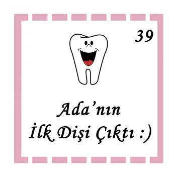 48li Diş Buğdayı Etiketi Kare 3,5cm