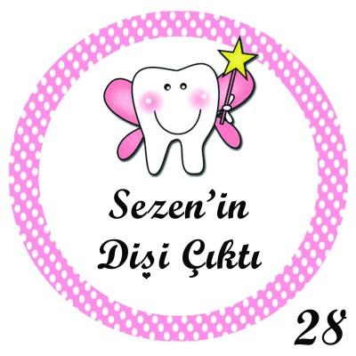 Diğer - 48li Diş Buğdayı Mini Süs Aynası Etiketi Yuvarlak 3cm