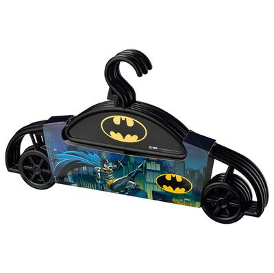 Diğer - 4lü Batman Çocuk Elbise Askısı Siyah