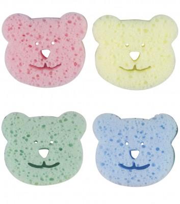 Bebedor - 4lü Renkli Ayıcıklı Bebek Banyo Süngeri