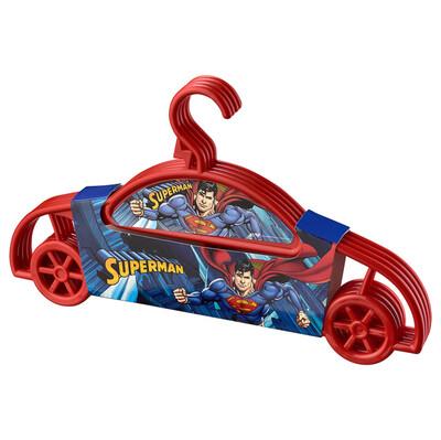 Diğer - 4lü Süperman Çocuk Elbise Askısı Kırmızı