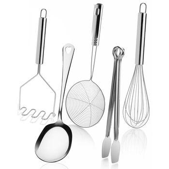 5 Parça Metal Mutfak Servis Seti