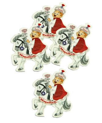 Diğer - 50li Kırmızı Pelerinli At Üzerinde Sünnet Çocuğu Süsleme Malzemesi Logo