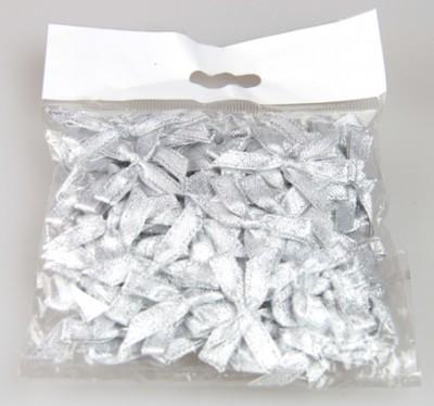50li Saten Kurdele Fiyonk Gümüş - Thumbnail
