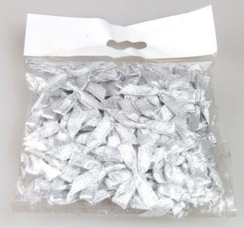 50li Saten Kurdele Fiyonk Gümüş