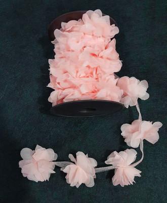 Diğer - 50li Şerit Tül Çiçek Süsleme Malzemesi Somon