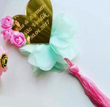 50li Şerit Tül Çiçek Süsleme Malzemesi Somon