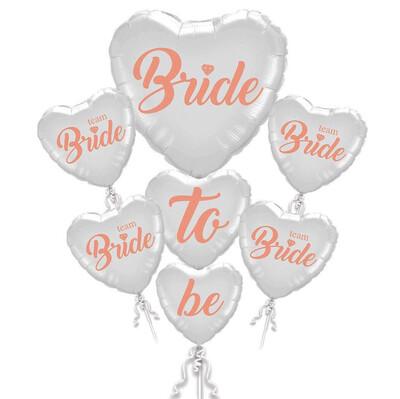 Diğer - 5li Bride To Be Kalp Folyo Balon Seti