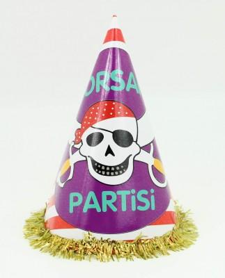 Diğer - 5li Korsan Partisi Yazılı Doğum Günü Parti Şapkası