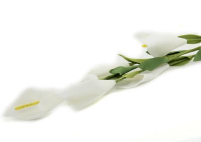 Diğer - 5li Yapay Çiçek Zambak Demeti Beyaz 68cm