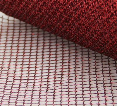 Diğer - 5mtTela Simli Süsleme Tülü Kırmızı