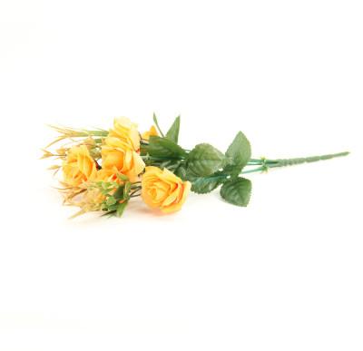 Diğer - 6 Güllü Yapay Çiçek Demeti 30cm Sarı