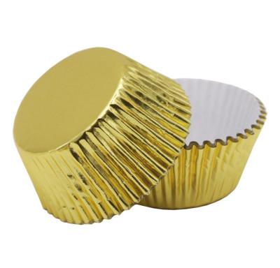 Diğer - 60lı Metalize Cupcake Kalıpları Gold