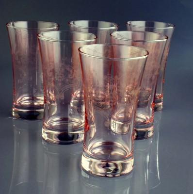 Diğer - 6lı Belkıs Lüsterli Cam Meşrubat Bardağı