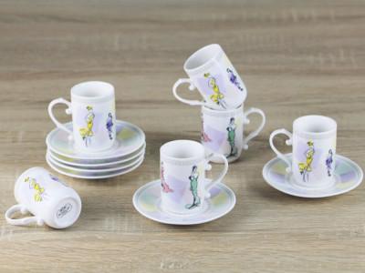 Diğer - 6lı Fashion Porselen Kahve Fincanı Seti