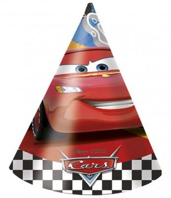 Diğer - 6lı Karton Cars Baskılı Çocuk Parti Şapkası