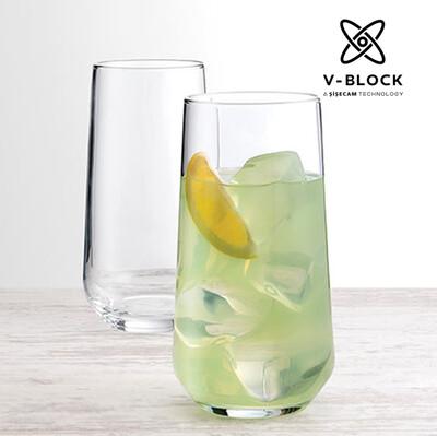 Paşabahçe - 6lı Paşabahçe V-Block Antimikrobiyal Allegra Meşrubat Bardağı