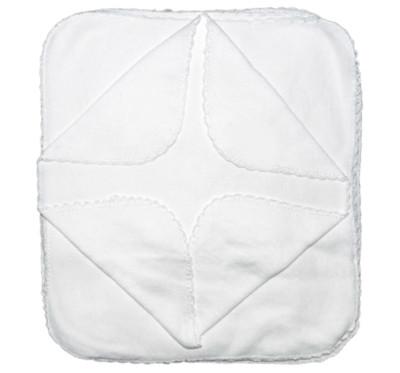 Diğer - 6lı Penye Klasik Bebek Ağız Mendili Beyaz