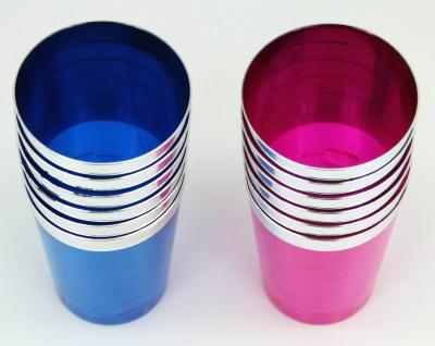 6lı Renkli Lohusa Şerbeti ve Meşrubat Bardağı Mavi - Thumbnail