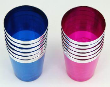 6lı Renkli Lohusa Şerbeti ve Meşrubat Bardağı Mavi