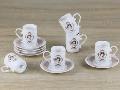 Diğer - 6lı Vintage Porselen Kahve Fincanı Seti