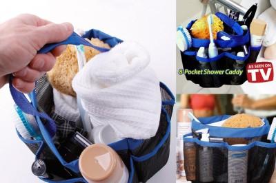Diğer - 8 Pocket Shower Caddy Portatif 8 Gözlü Banyo Organizer